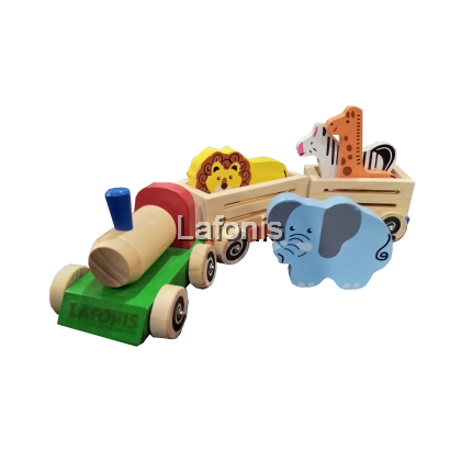 Wooden Animal Train set(40 x11.5 x 10 cm )