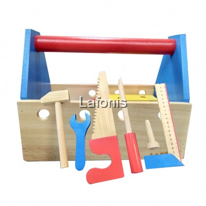 Wooden Creative Tool Box-(25.5*15*20cm)