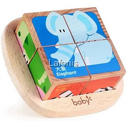 Wooden Puzzle Cube Farm Section- (14.6*14.6*5.7cm)